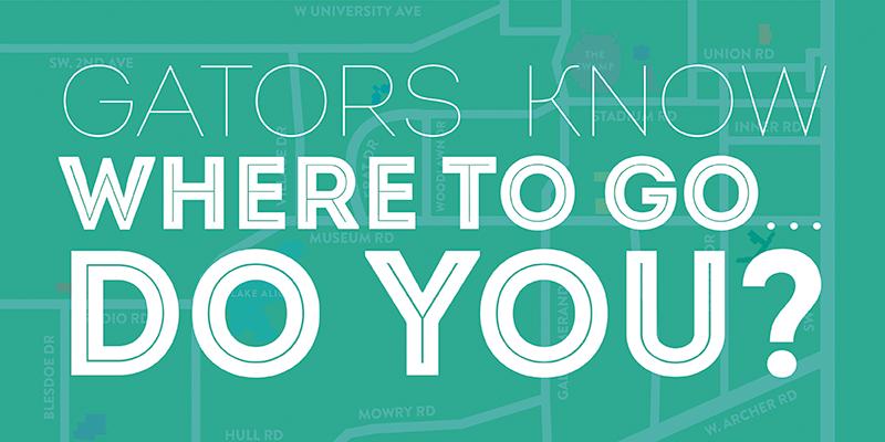 Gators know where to go ... do you?